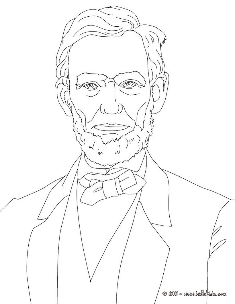 President Abraham Lincoln Coloring Pages