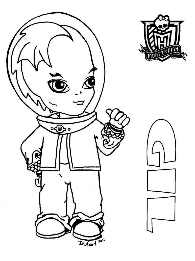Baby Monster High Coloring Pages