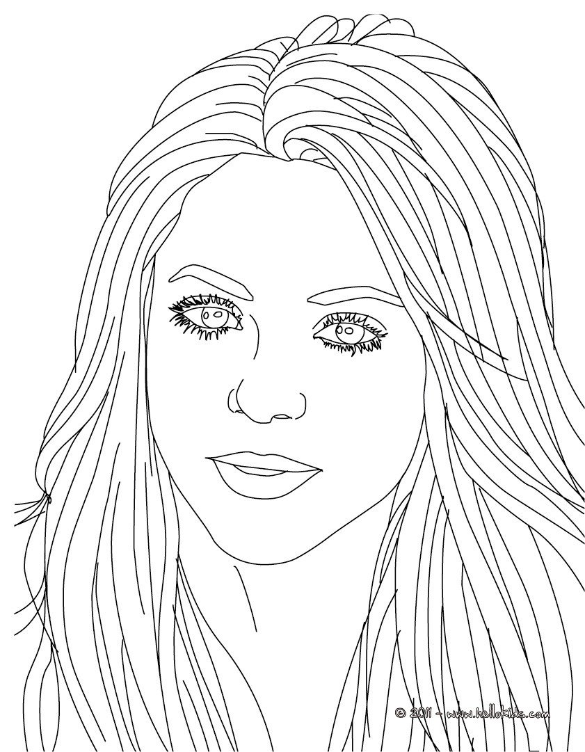 Shakira Songwriter Coloring Pages