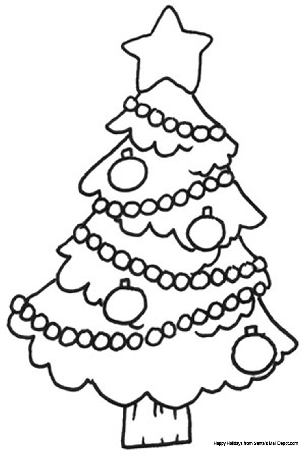 Christmas Colouring Sheet 01