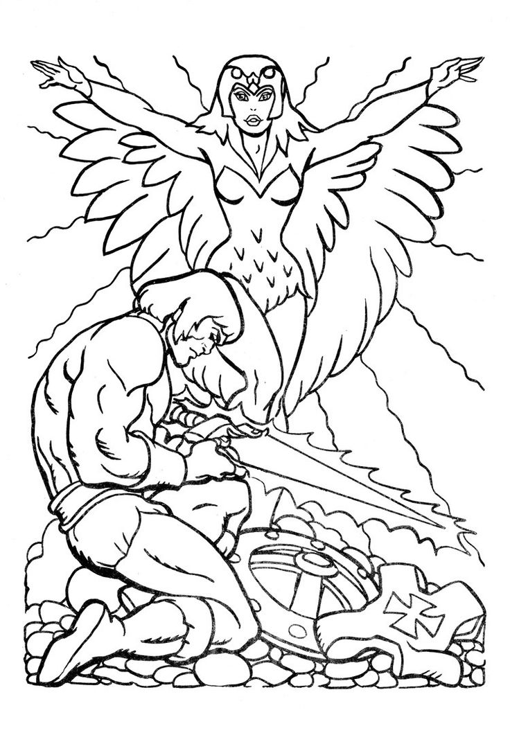 128 Best Colouring Images On Neo Coloring In He Man Coloring Pages