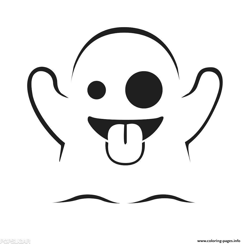 Emoji Ghost Coloring Pages Printable