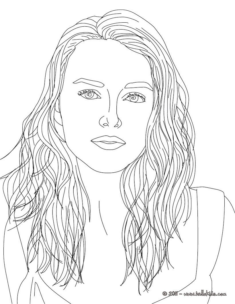 Keira Knightley Coloring Pages