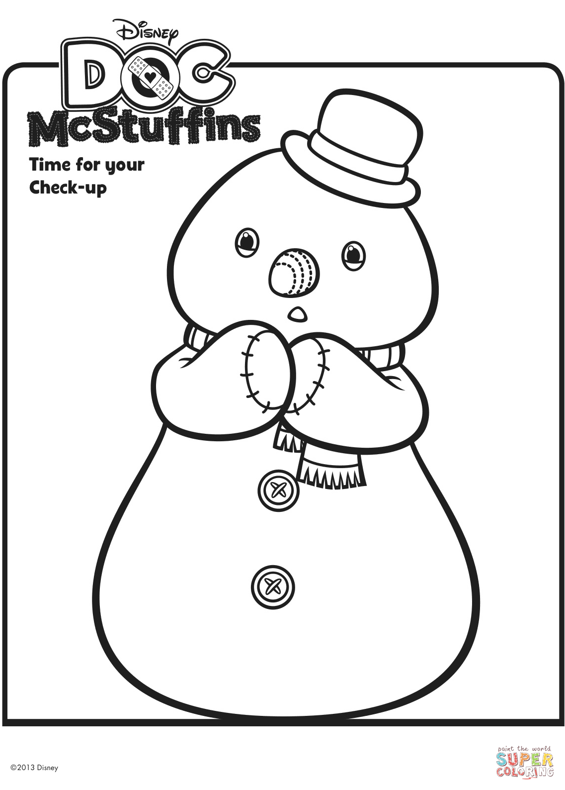Chilly The Snowman From Doc Mcstuffins