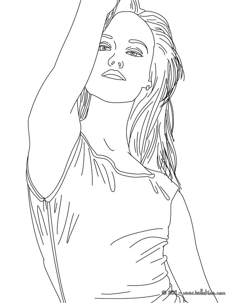 Vanessa Paradis, French Singer Coloring Pages