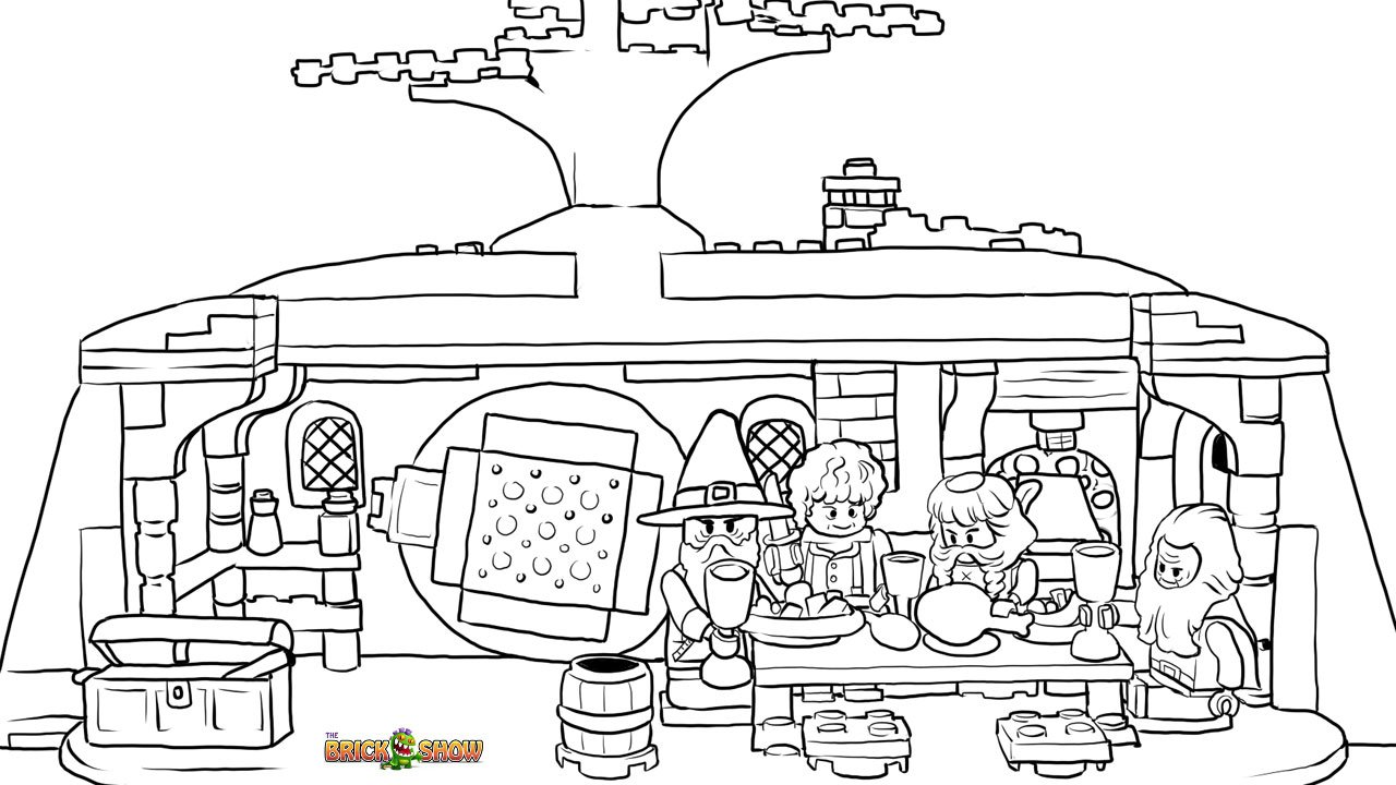 Lego The Unexpected Gathering Coloring Page, Printable Sheet