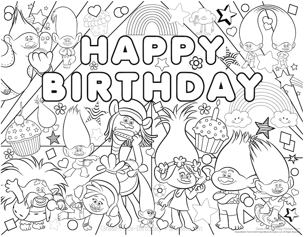25+ Unique Birthday Coloring Pages Ideas On Neo Coloring