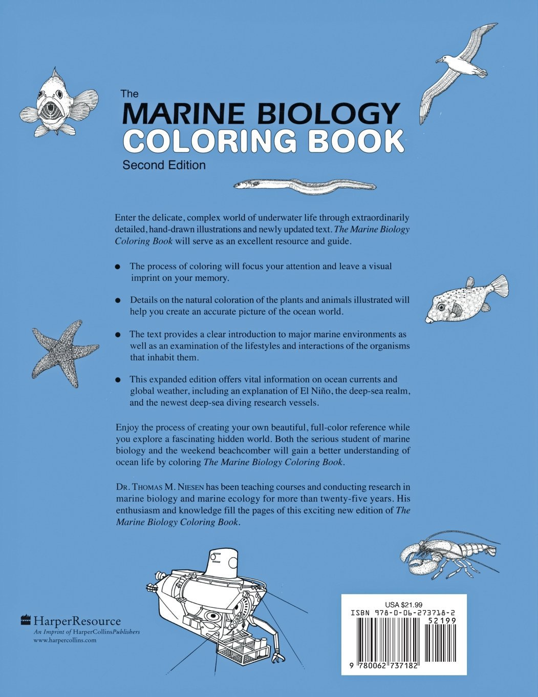 The Marine Biology Coloring Book, Second Edition  Thomas M  Niesen