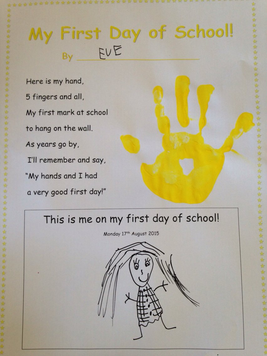 First Day Of School Activity  Reception P1