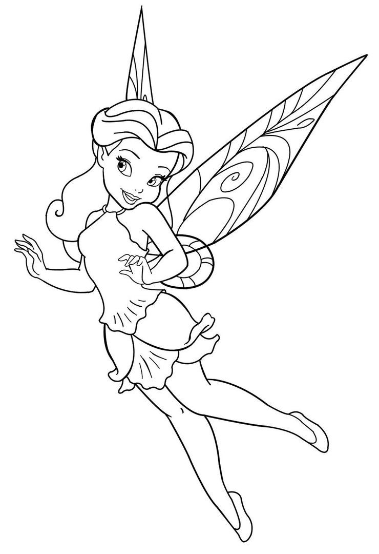 Disney Fairies Coloring Pages 9
