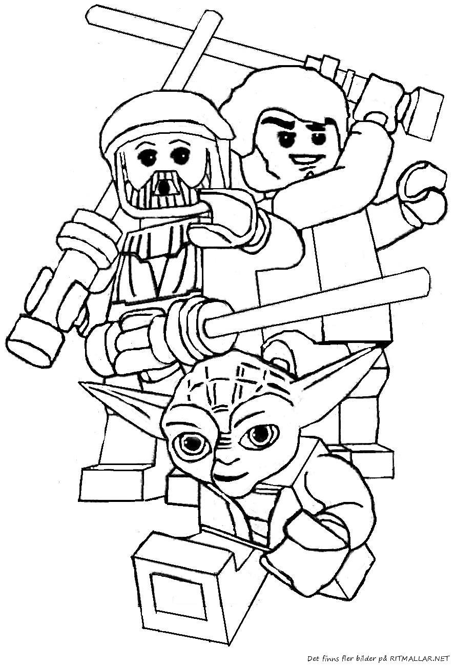 Färglägg Lego Star Wars Yoda