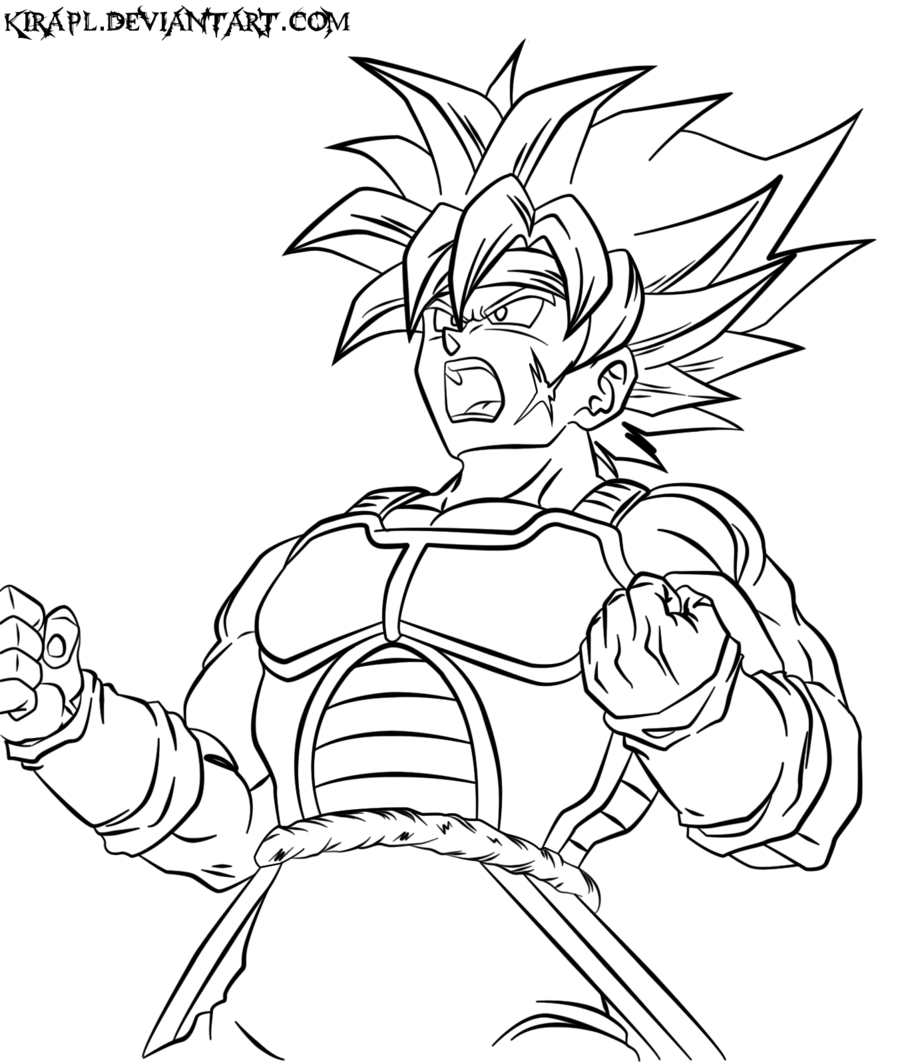 Dragon Ball Z Coloring Pages Bardock