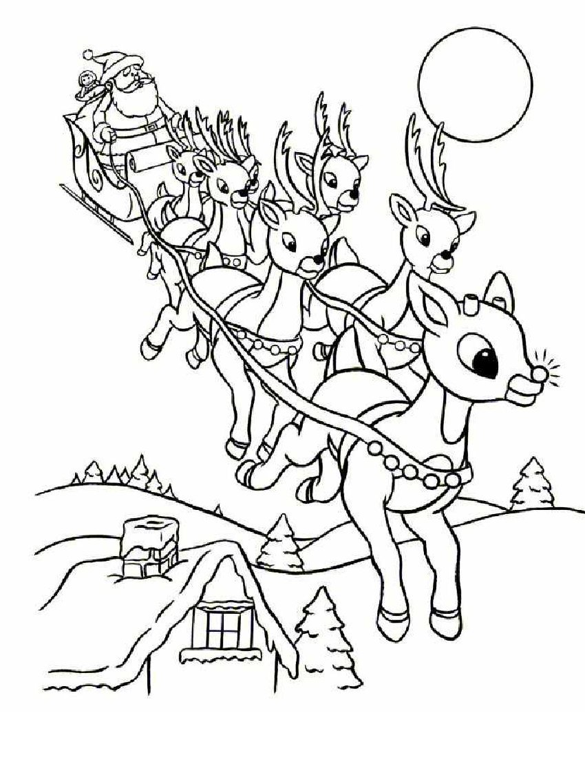 Online Rudolph And Other Reindeer Printables And Coloring Pages