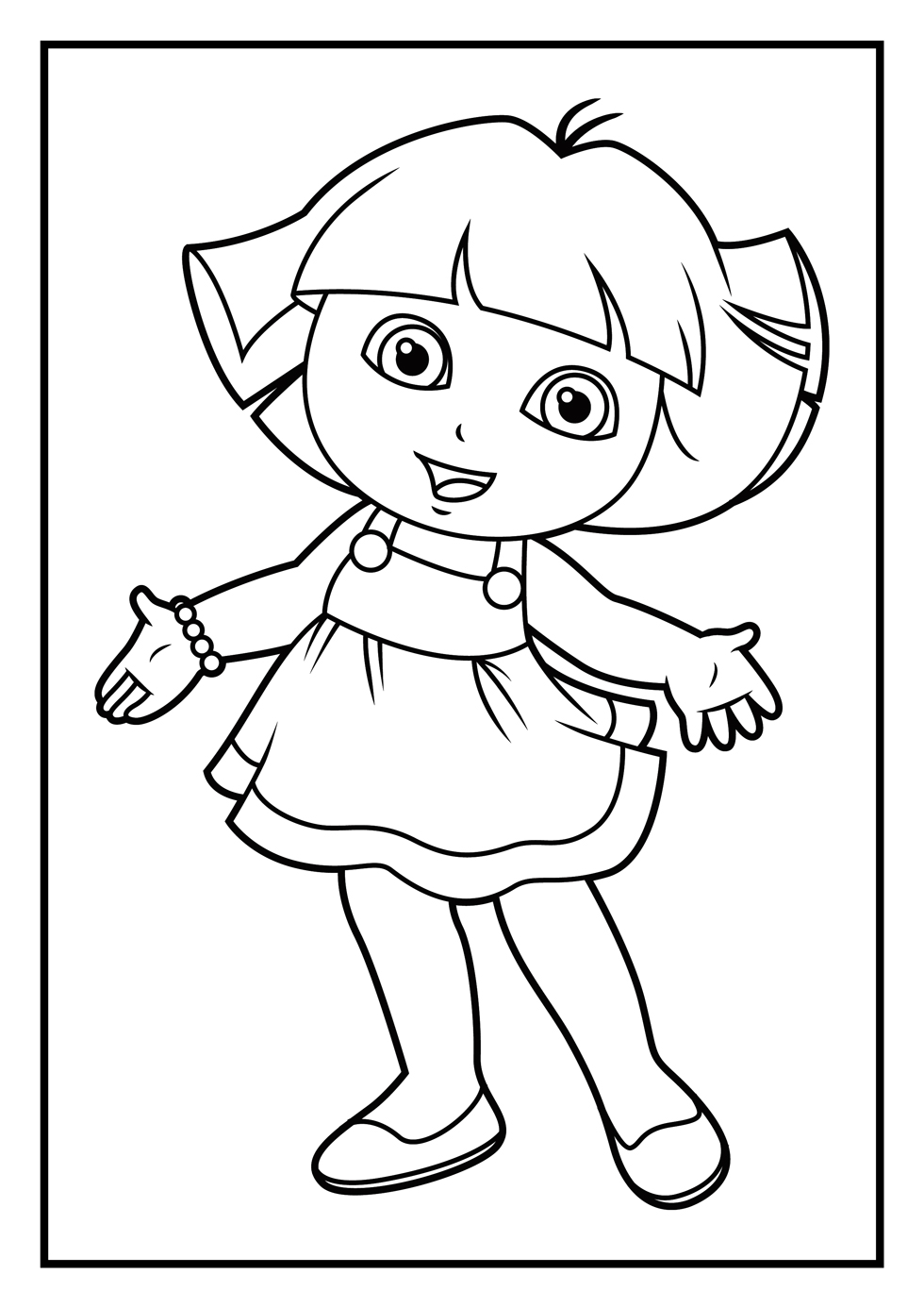 Awesome Dora Coloring Pages