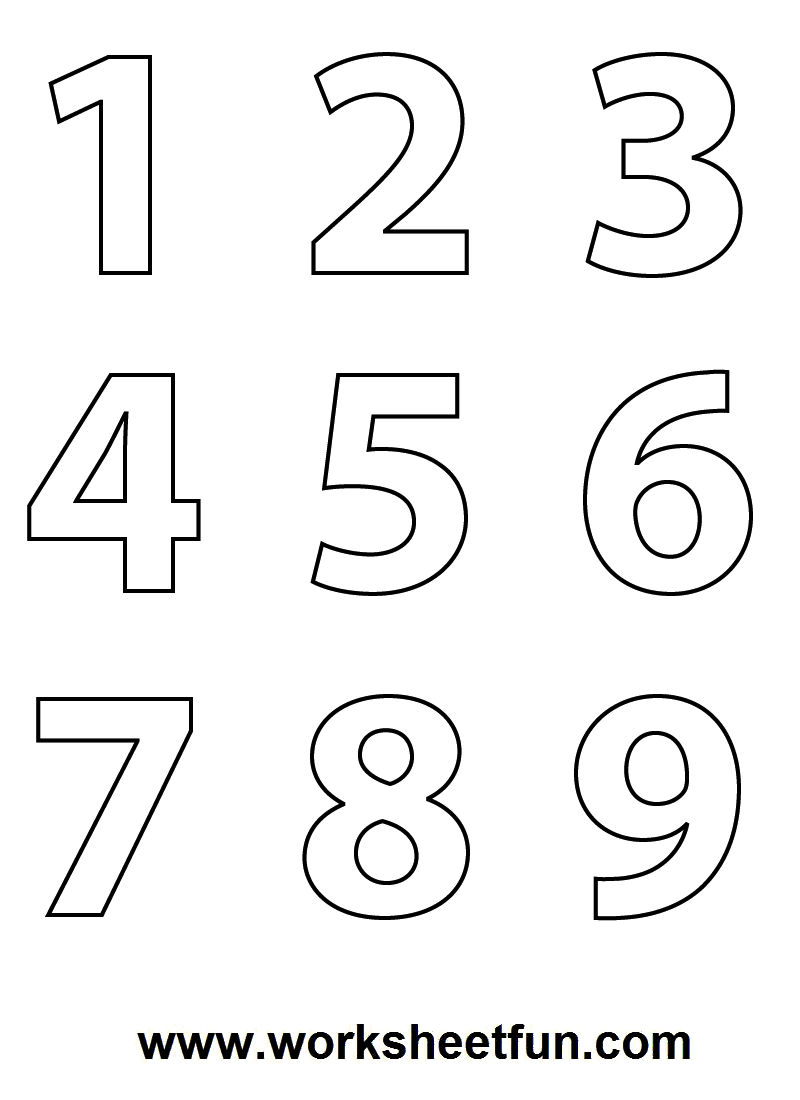 Numbers Colouring Sheets 09