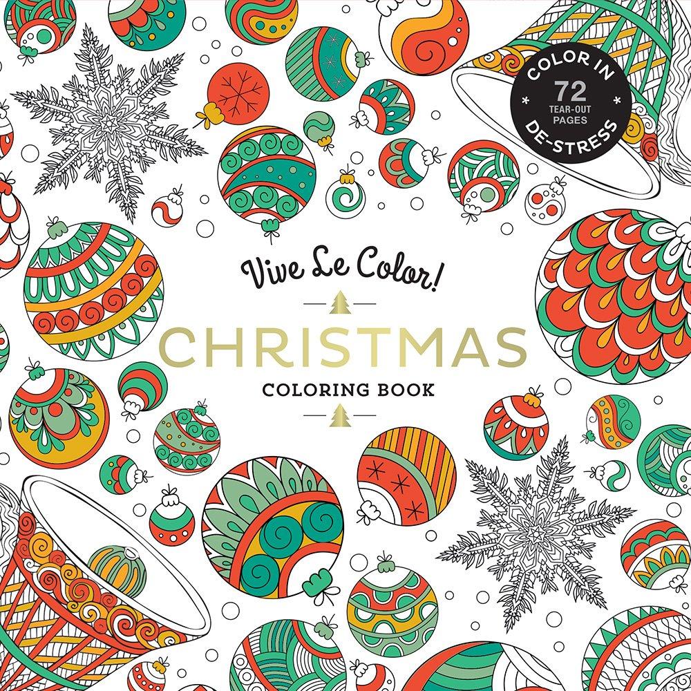 Vive Le Color! Christmas (adult Coloring Book)  Color In; De