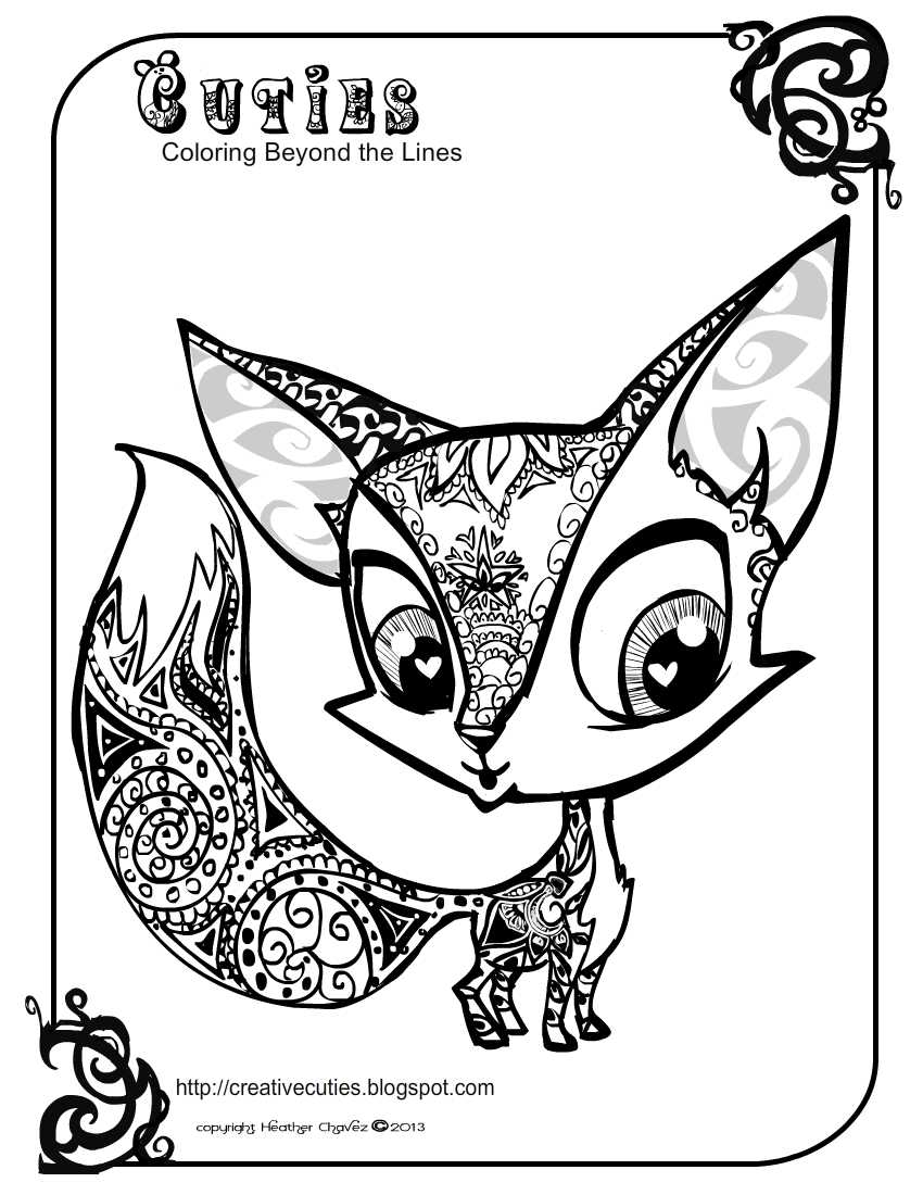 Animal Cuties Coloring Pages
