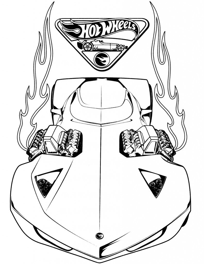 Hot Wheels Coloring Pages For Kids