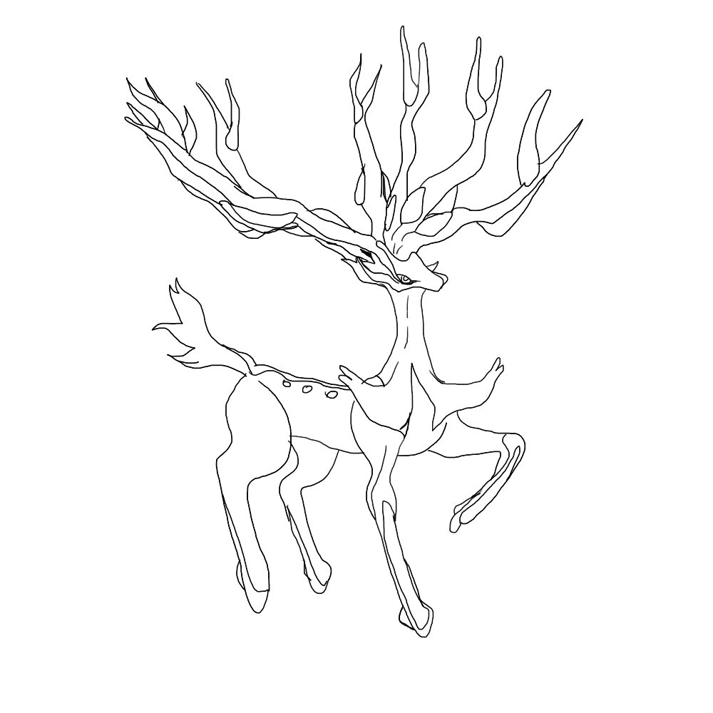 Legendary Deer Pokemon Wip — Weasyl