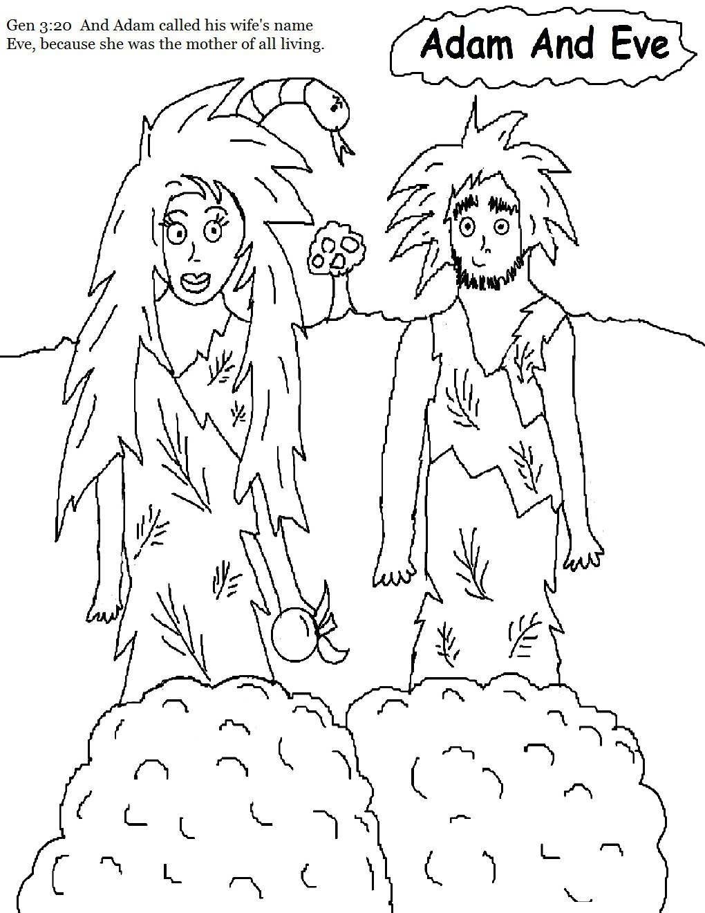 Adam And Eve Coloring Pages New And