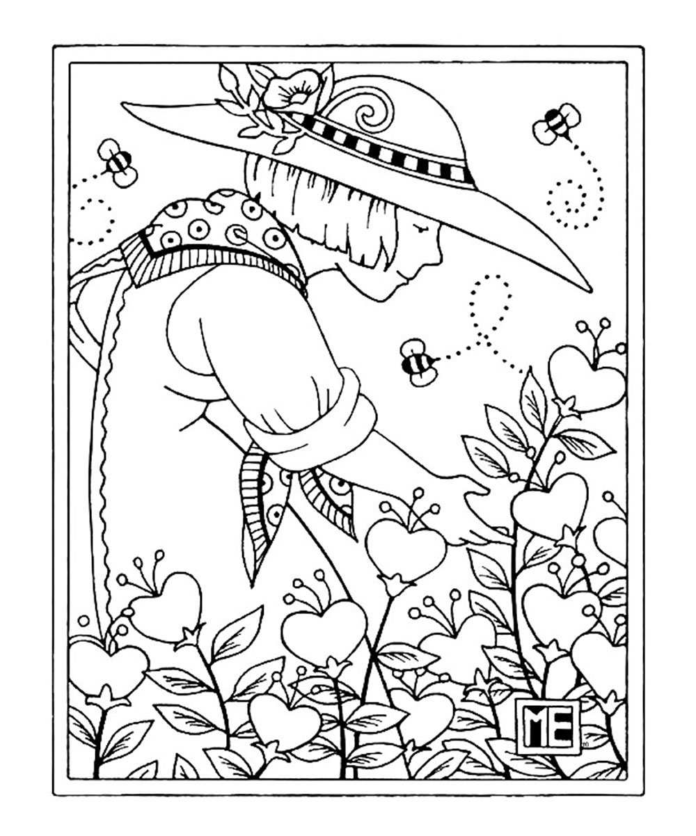 Adult  Best Mary Engelbreit Coloring Pages Images  Dashah Beauty