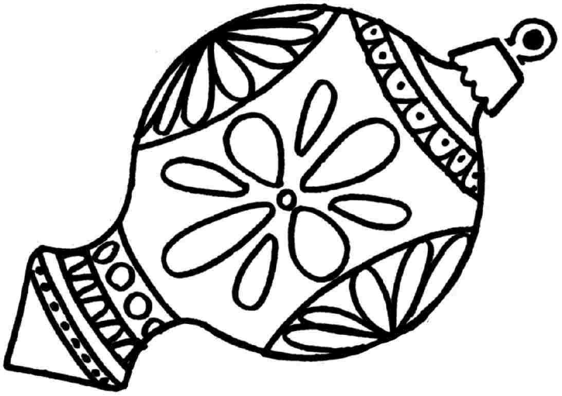 Adult Coloring Pages Christmas Ornaments Free In Christmas