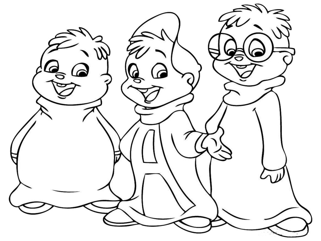 Printable Alvin And The Chipmunks Coloring Pages