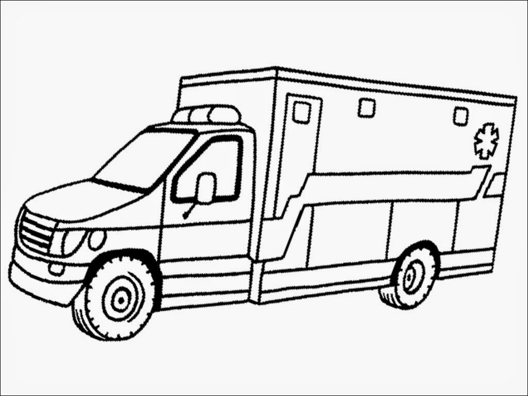 Amazing Ambulance Coloring Pages 39 About Remodel Line Drawings