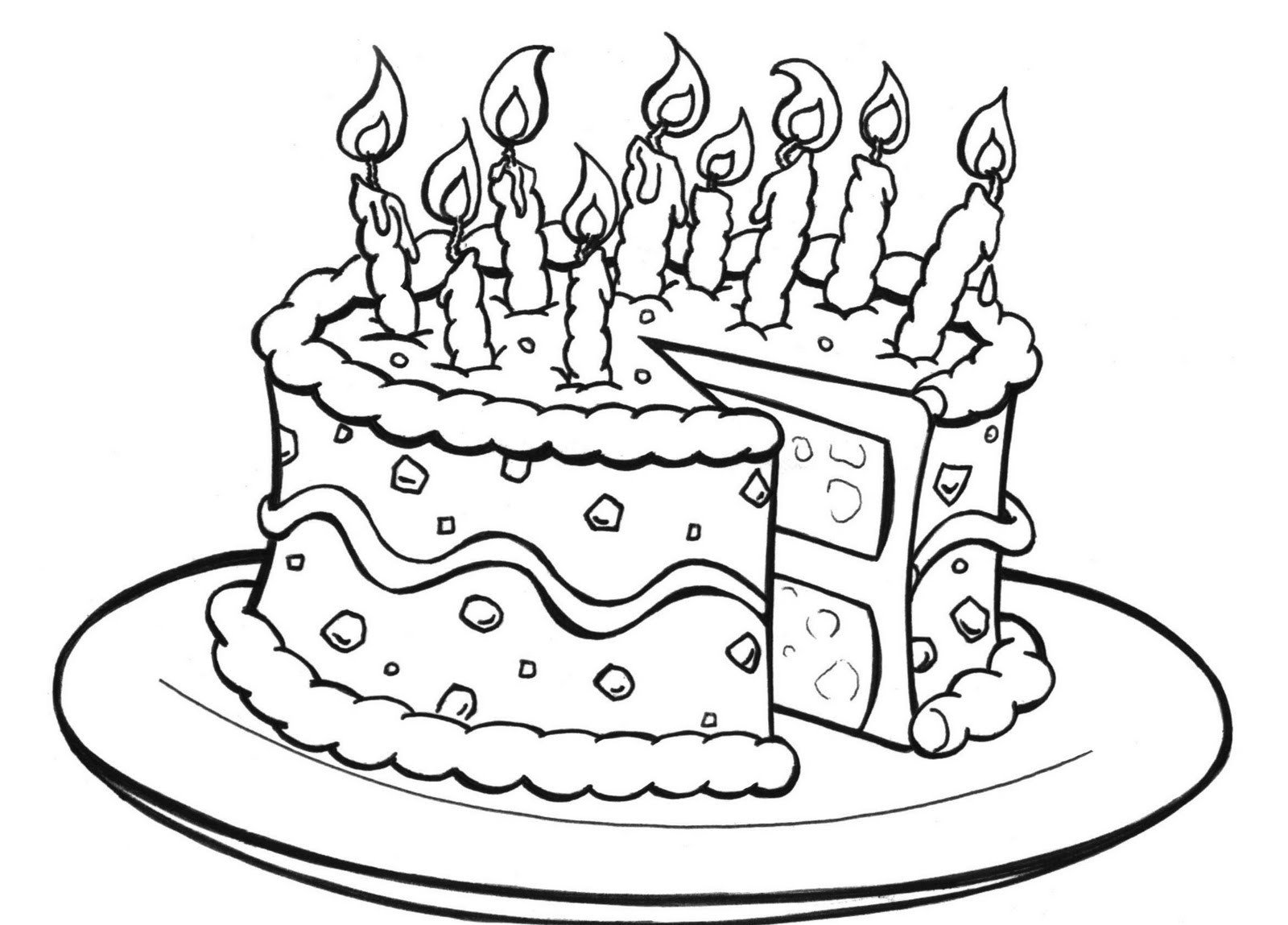 Amazing Birthday Cake Coloring Pages Printable 93 For Your