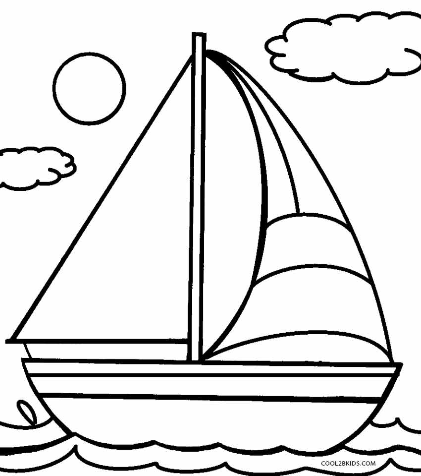 Amazing Boat Coloring Pages 98 On Free Coloring Kids With Boat