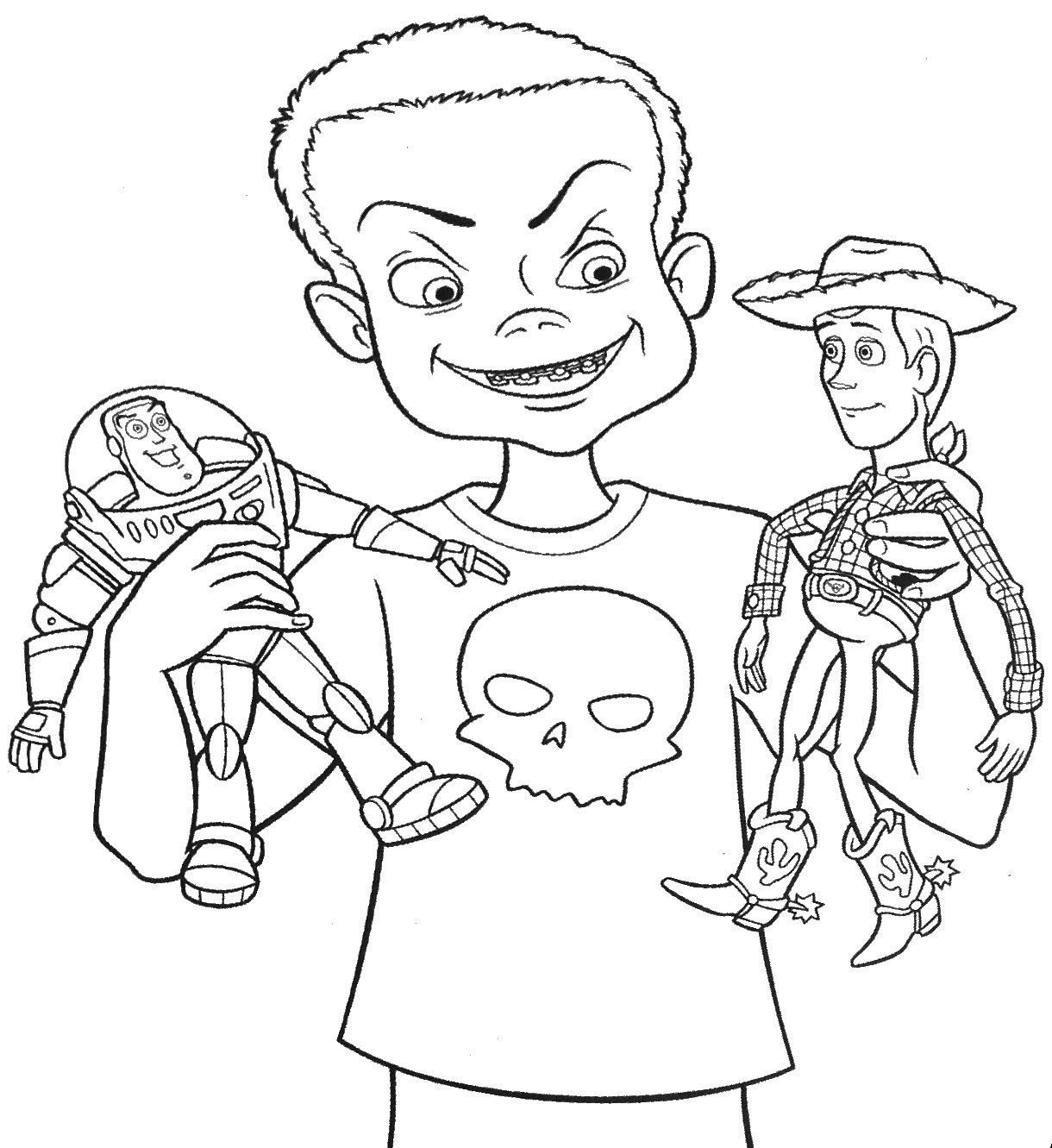 Amazing Free Printable Toy Story Cartoon Coloring Pages For Kids