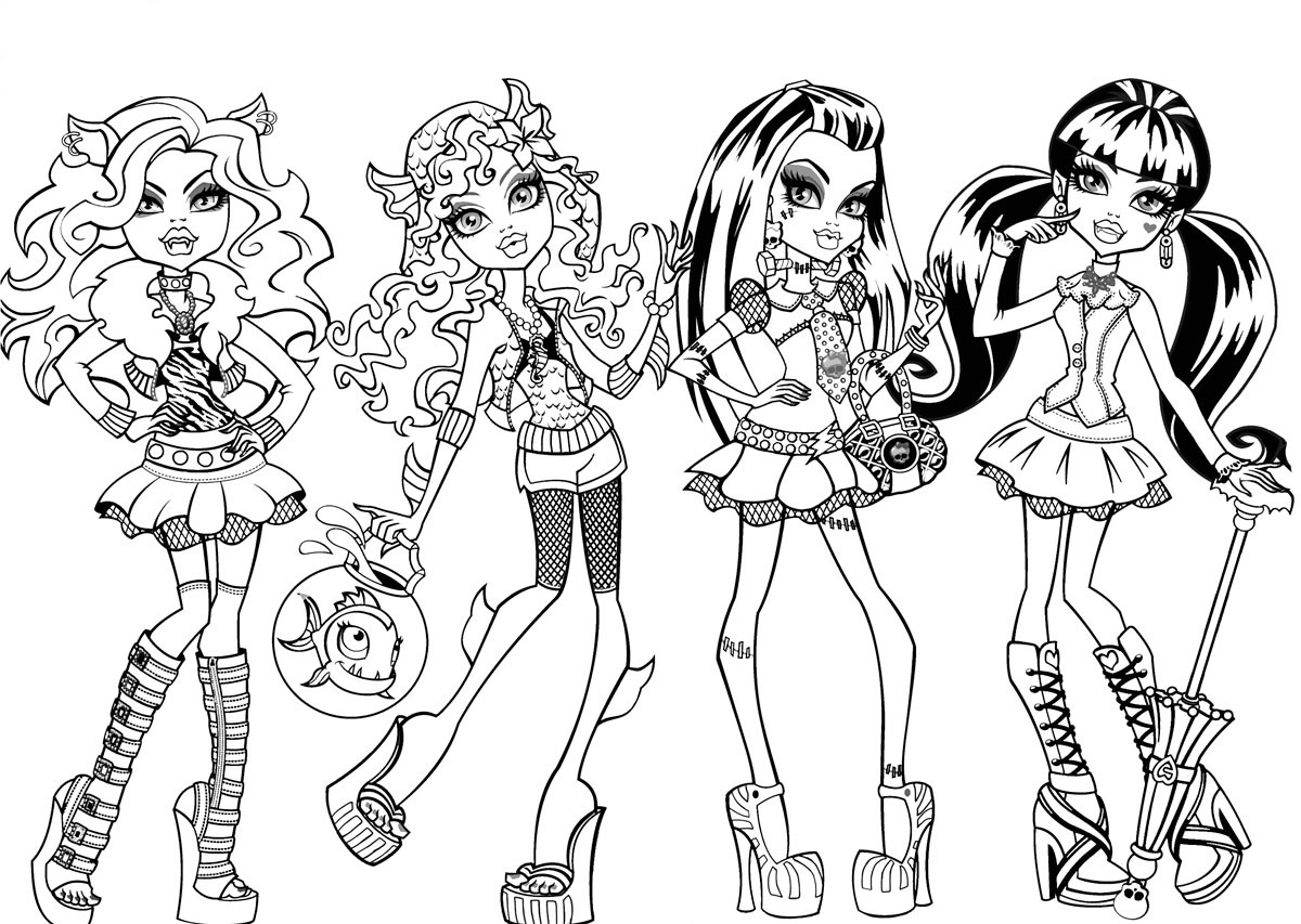 Amazing Monster High Coloring Pages 50 About Remodel Coloring