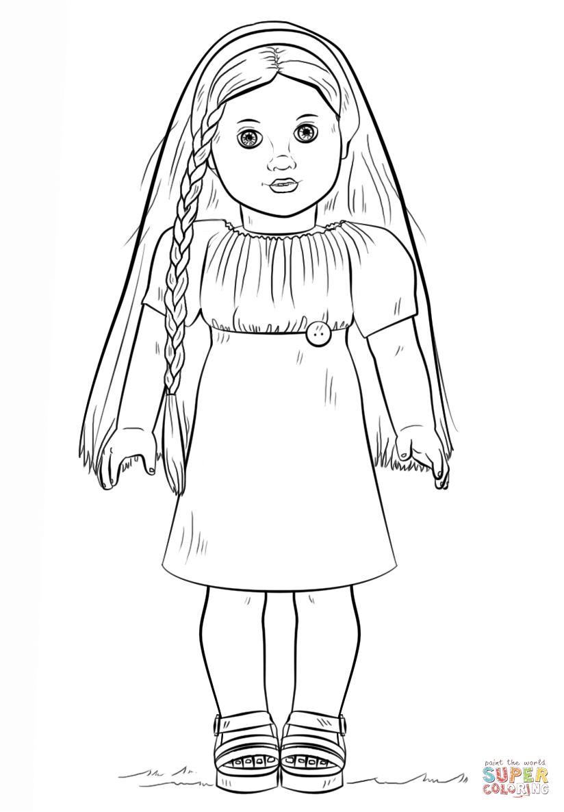 American Girl Doll Julie Coloring Page