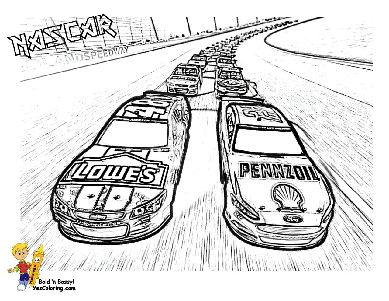 Get This American Nascar Racing Car Coloring Pages For Boys