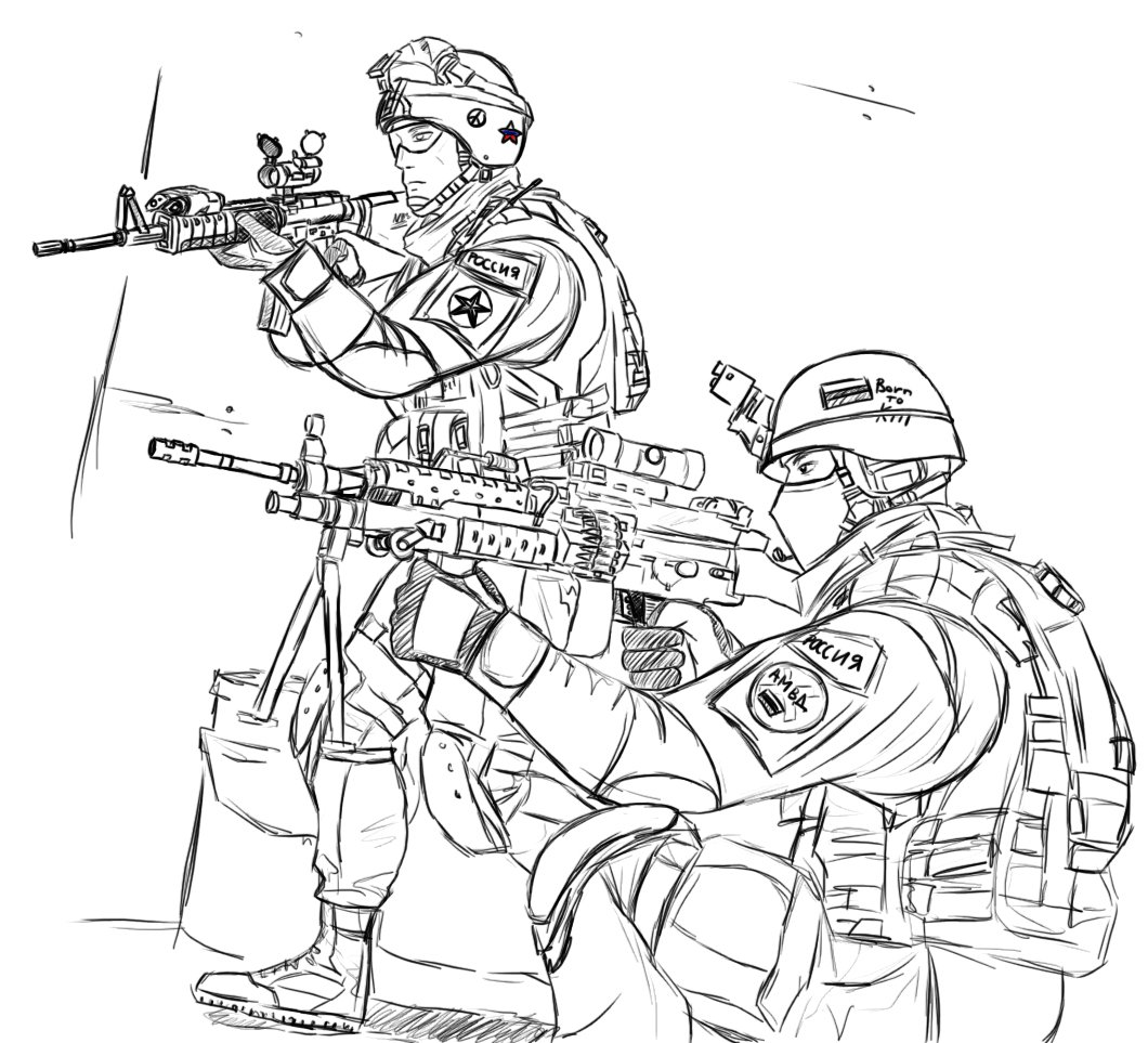 Army Coloring Pages Soldiers In War