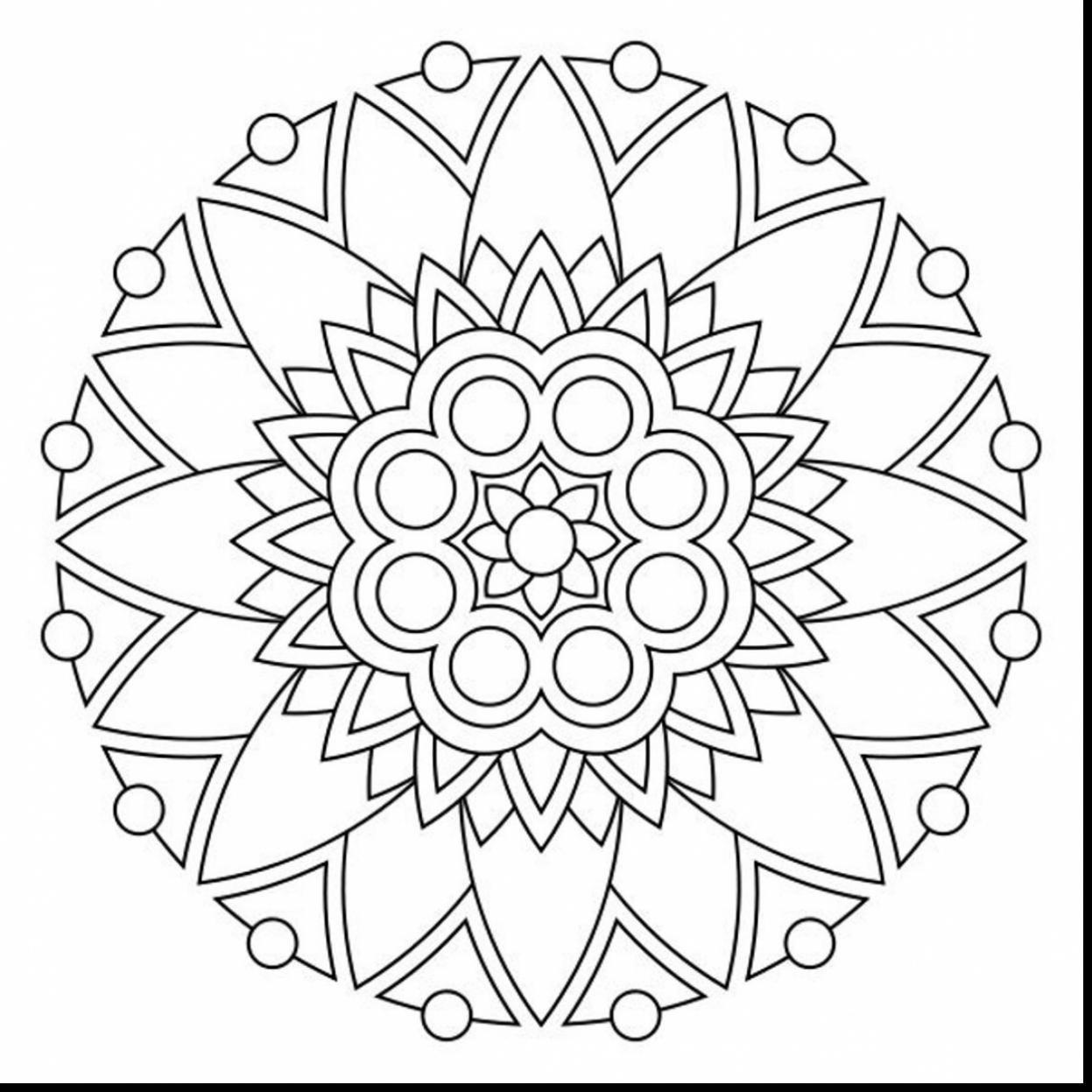 Astonishing Printable Mandala Coloring Pages With Mandala Coloring