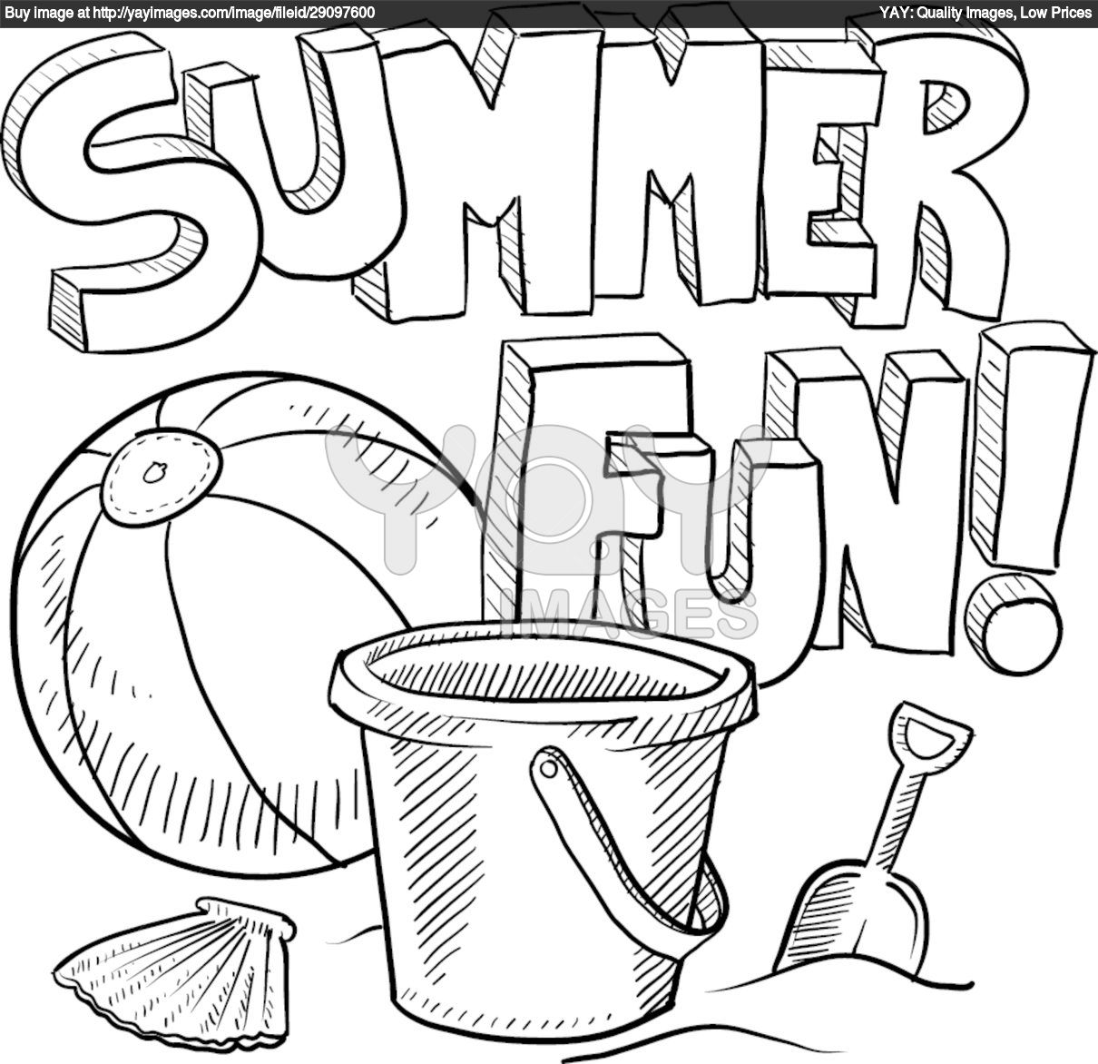 Awesome Coloring Pages Summer 69 For Your Free Coloring Book With