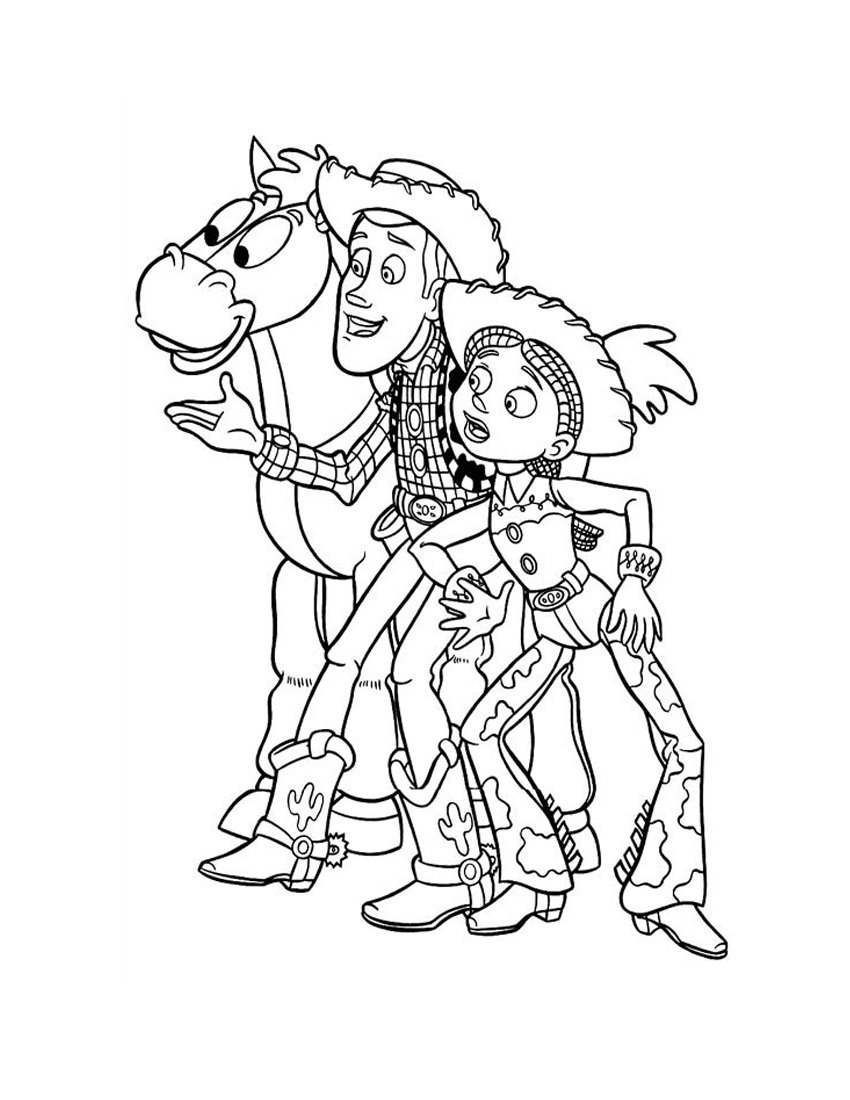 Free Printable Toy Story Cartoon Coloring Books For Kids Printable