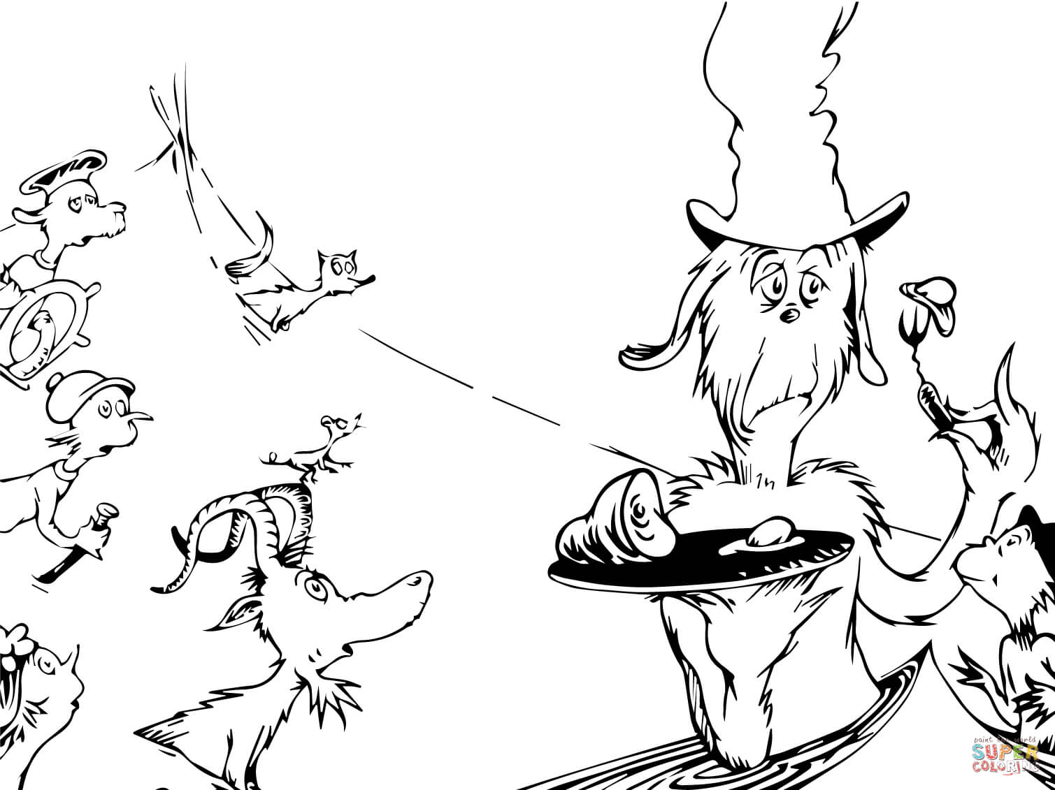 Awesome Green Eggs Ham Coloring Pages Photos Inside And
