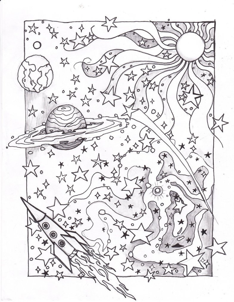 Awesome Outer Space Coloring Pages 61 In Coloring Pages For Kids