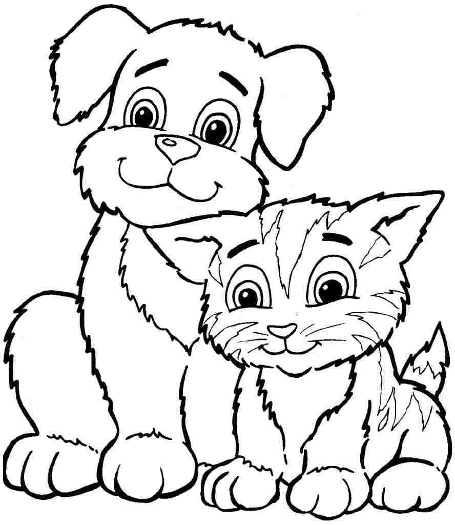 Coloring Sheets Animal Dogs Printable Free For Kids & Boys 8106
