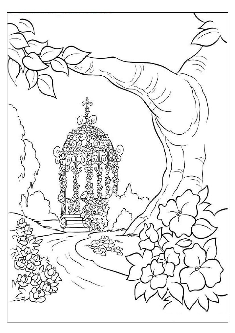 Nature+coloring+pages+for+adults