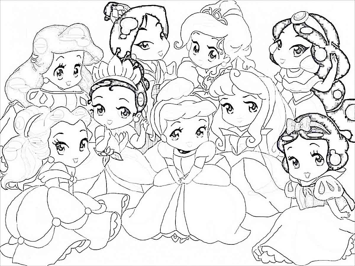 Baby Disney Princess Coloring Page
