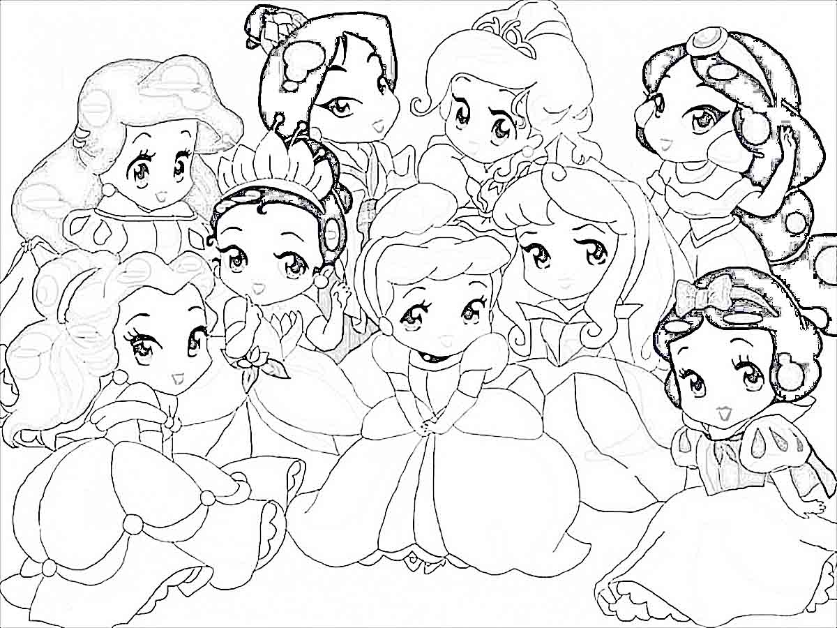 Baby Disney Princess Coloring Pages Printable