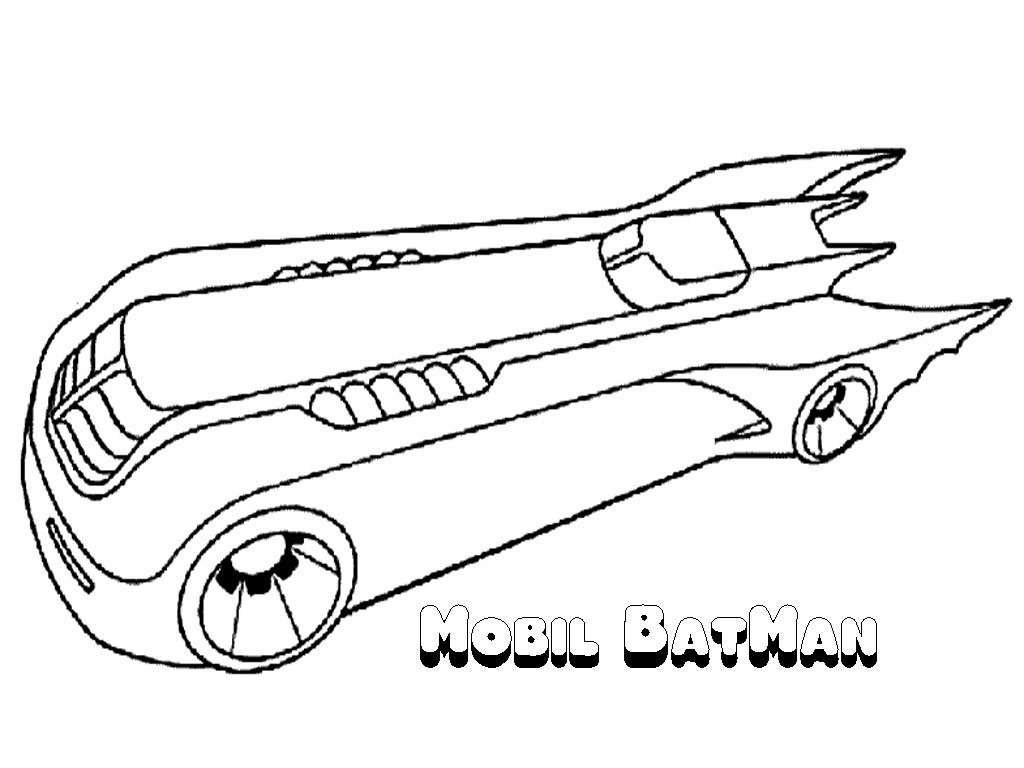 Batman Coloring Pages Batmobile