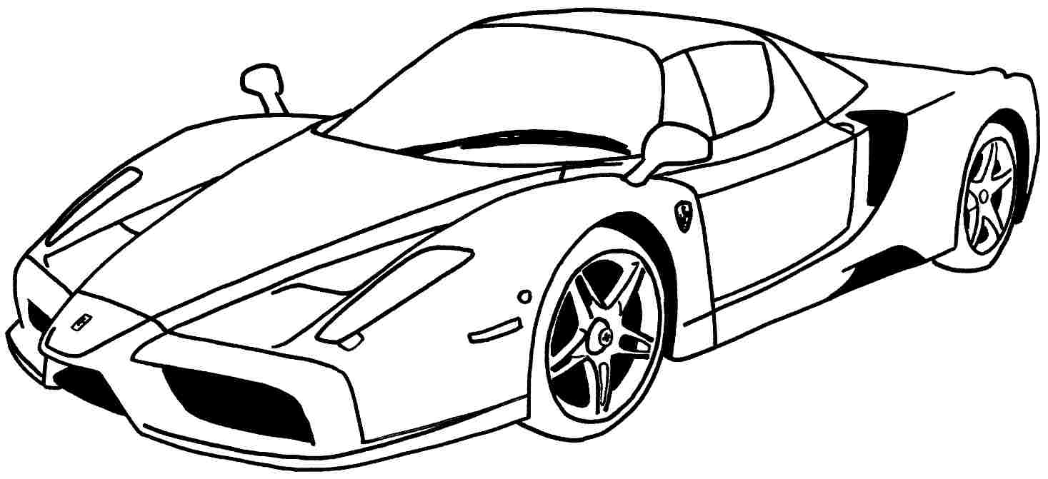 Beautiful Car Coloring Page 31 For Seasonal Colouring Pages With