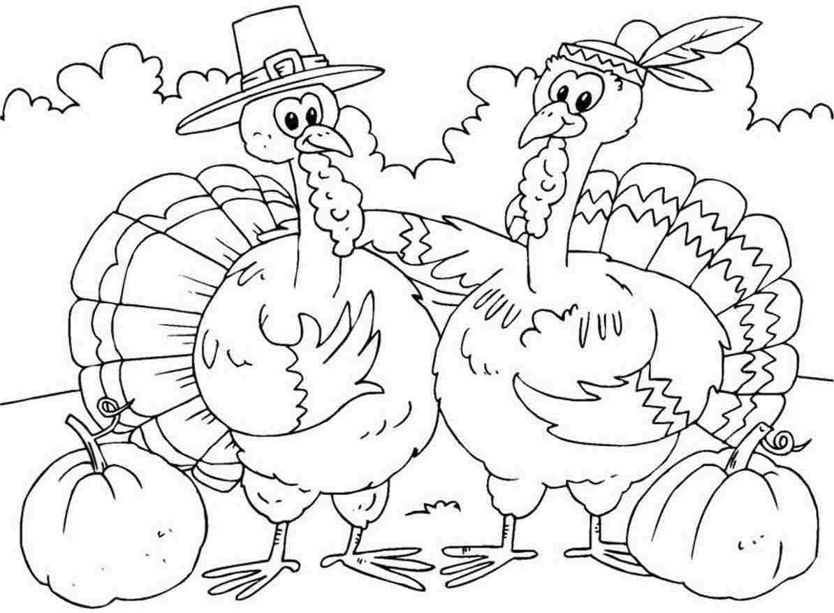 Printable Thanksgiving Color Pages
