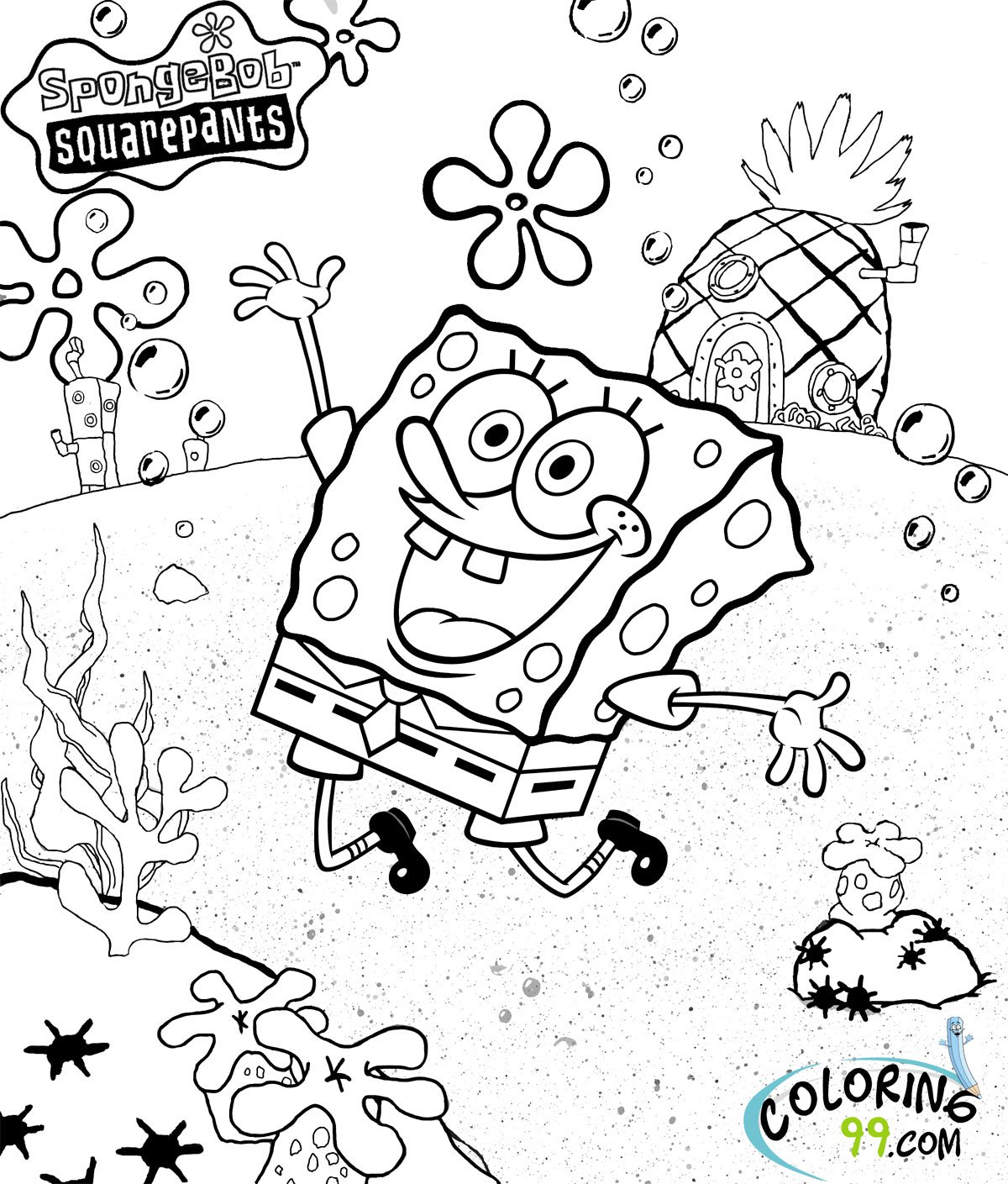 Beautiful Spongebob Squarepants Coloring Page 28 About Remodel