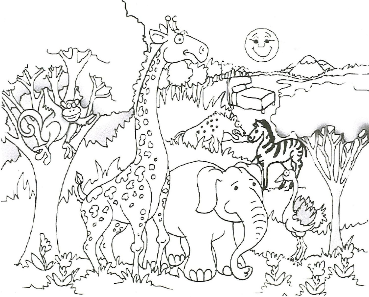 Best Animals Coloring Pages Best Coloring Page  1969