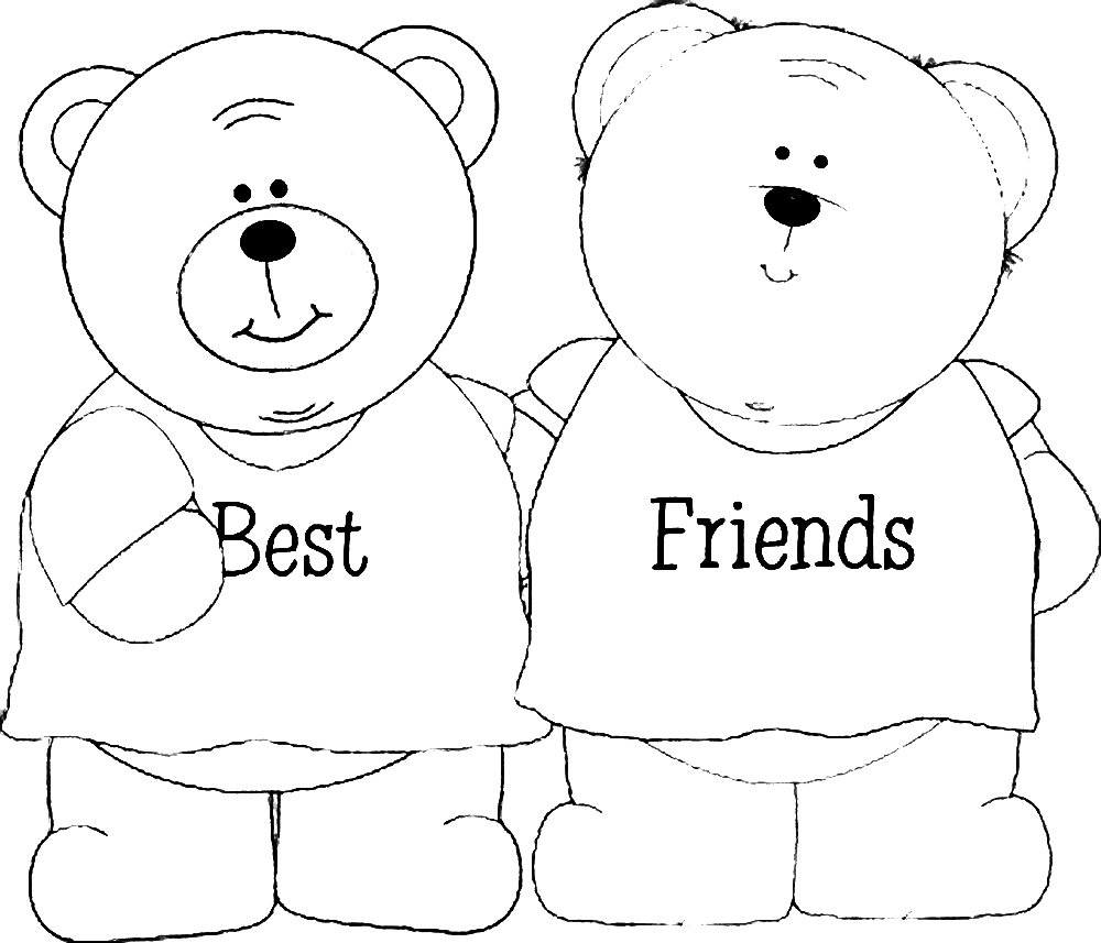 Best Friends Coloring Pages 27925,